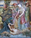 Finding of Moses. Altarpiece on altar of Our Lady in the church of Saint Matthew in Stitar, Croatia Royalty Free Stock Images