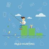 Finding new ideas for the money. Flat abstract isolated vector illustration Royalty Free Stock Photography