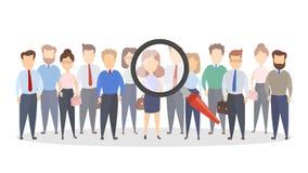 Finding new people. Finding new people for a new job Stock Images