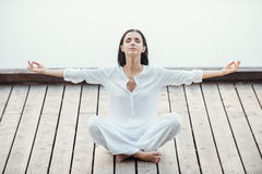 Finding peace and balance. Royalty Free Stock Images