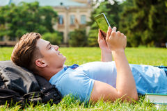 Finding a peaceful place to relax. Stock Photos