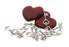 Finding the right key to my heart Royalty Free Stock Images