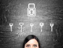 Finding the right key Stock Image