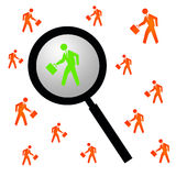 Finding the right person. For the job Royalty Free Stock Image