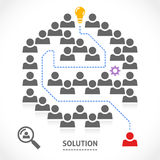 Finding the right solution in a labyrinth Royalty Free Stock Image
