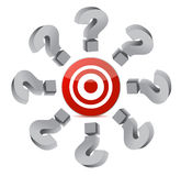 Finding the right target. Illustration design over white Stock Photography