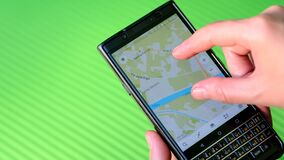 Finding a route to location using the mobile maps application