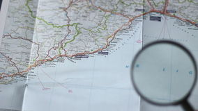 Finding San Remo on a map stock video footage