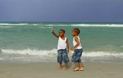 Finding Seashells Stock Image