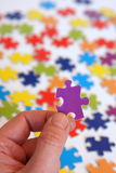Finding the solution. Of a puzzle Stock Photography