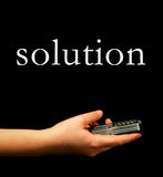 Finding solution Royalty Free Stock Image