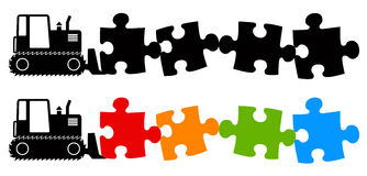 Finding a solution. Solving the puzzle and trying to find a solution Stock Photos