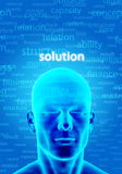 Finding Solution. Illustration of a man thinking to find  a solution Stock Photos