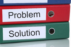 Finding solution for problem business concept in office Stock Photo