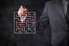 Finding solutions Stock Images