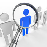 Finding Staff Represents Strong Point And Brilliance Royalty Free Stock Photography