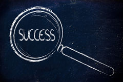 Finding success in business Royalty Free Stock Photos