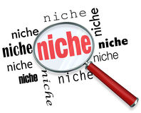 Finding a Targeted Niche - Magnifying Glass Stock Photos