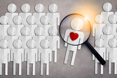 Finding true love from others love concept Stock Photography