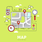 Finding the way concept. In flat design Royalty Free Stock Image