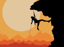 Finding a way. Rockclimbing, concept for finding a way in difficult circumstances Royalty Free Stock Photo