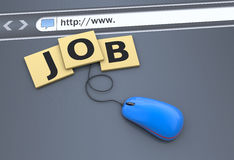 Finding work as a concept. Job Search on the website Stock Photo