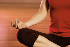 Finding zen through yoga. Graceful female arm in a yoga position Stock Photo