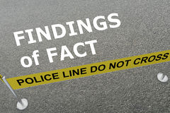 Findings of Fact - criminal concept Royalty Free Stock Photography