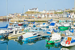 Findochty Harbour. And historic fishing village on the tourist trail in North East coast of Scotland Stock Image