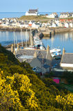 Findocty fishing port. Findochty, a colorful  fishing port on the North East Coastal Trail in Morayshire, Scotland Stock Photo