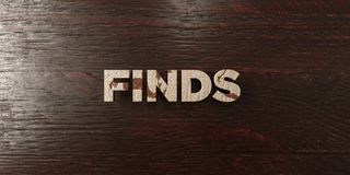 Finds - grungy wooden headline on Maple  - 3D rendered royalty free stock image Royalty Free Stock Image