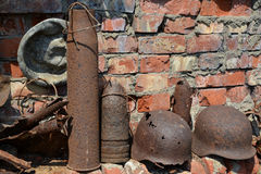 Finds of last war. Rusty relics.  Royalty Free Stock Photos