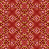 Fine abstract red symmetrical pattern. Abstract red orange floral symmetrical pattern Royalty Free Stock Photos