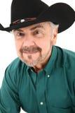 Fine americana anziana del cowboy sul ritratto Immagini Stock Libere da Diritti