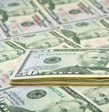 Fine americana dei soldi in su Fotografia Stock Libera da Diritti