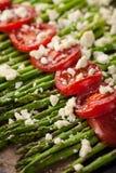 Fine arrostita dell'asparago su Fotografie Stock Libere da Diritti