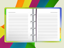 Fine Art. Editable  illustration of an open note book Royalty Free Stock Photos