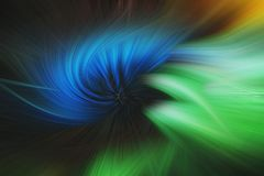 Fine art abstract background. Blue and green swirl, dynamic pattern Stock Photography