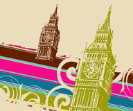 Fine Art big ben. Editable illustration of a big ben stock illustration