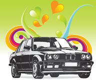 Fine Art BMW car. Editable  illustration of a BMW car Stock Photos