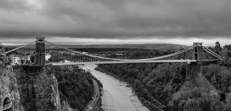 Fine Art Bristol Clifton Suspension Bridge in Mono royalty free stock image