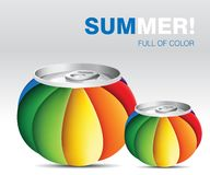 Fine Art colored cans Stock Image