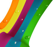 Fine Art colored dewdrops. Editable  illustration of colored dewdrops Royalty Free Stock Images