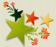 Fine Art colored stars. Editable  illustration of a colored stars Royalty Free Stock Photos