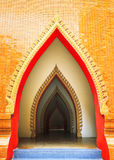 Fine art door in thai temple Stock Photo