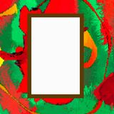 Fine Art Gallery Illustration Blank Picture. Fine art style illustration with a blank picture hanging on the wall to add your own message Royalty Free Stock Photo