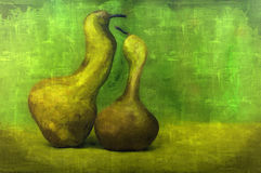 Fine art green pears. Fine art- picturesque scene of two green pears. It is possible to print large format Stock Photography