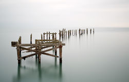 Free Fine Art Landscape Image Of Derelict Pier In Milky Long Exposure Royalty Free Stock Photo - 35470745