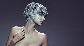Fine art make up of a stunning girl Royalty Free Stock Image