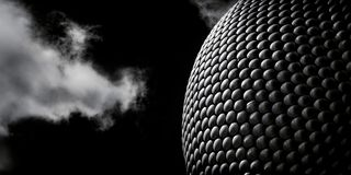 Fine Art Monochrome of Modern Architecture, Selfridges Building royalty free stock photo